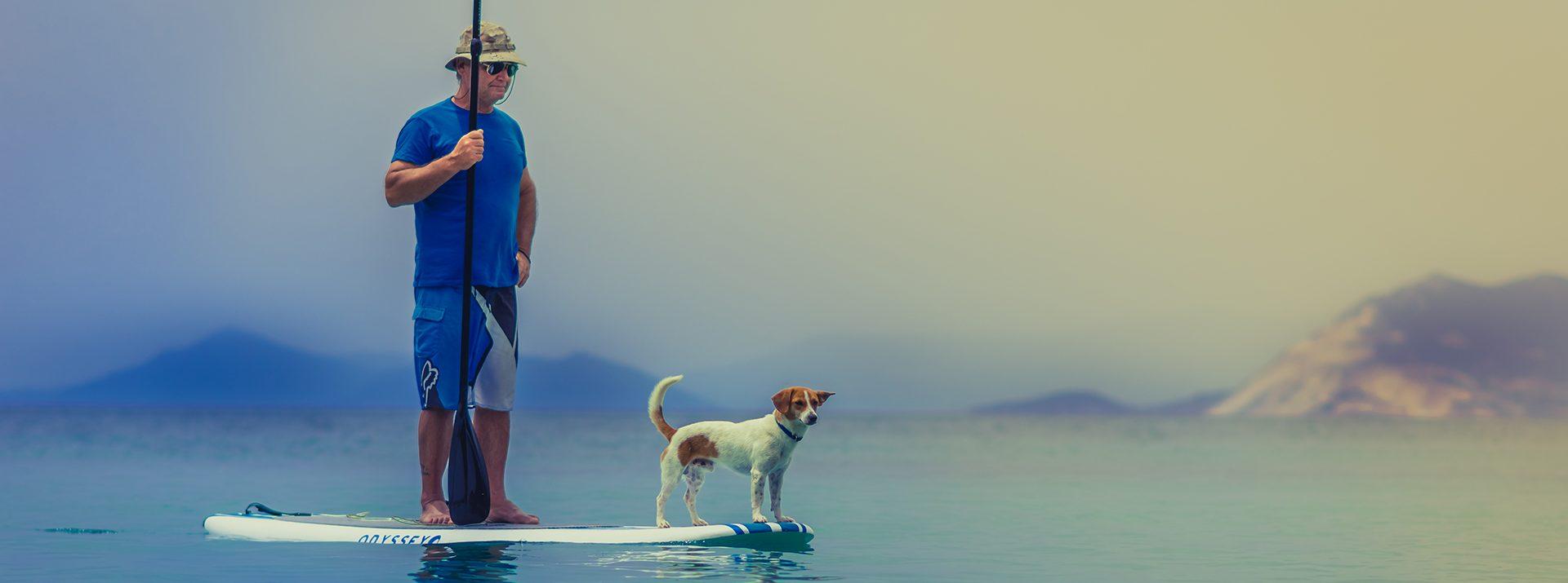 Horgász kutyával